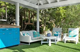 Fake Grass Mats Patio Dock Landing Porch Patio Rustic Deck Los Angeles By