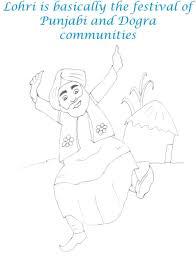 lohri dance printable coloring page for kids