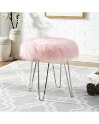 faux fur ottoman with storage big deal on ottoman nate berkus faux fur stool with idea 15