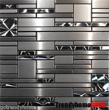 kitchen backsplash stainless steel 1 sf stainless steel metal pattern mosaic tile kitchen backsplash