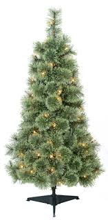 4ft christmas tree time pre lit 4 artificial christmas tree clear