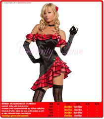 Halloween Costumes Spanish Dancer Flamenco Spanish Latin Dancer Black Red Fancy Dress Ladies Costume