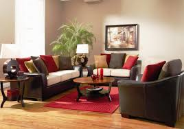 brown and red living room luxury home design ideas