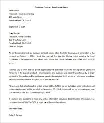 cancellation of contract letter notice of termination of contract
