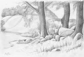 pictures landscape pencil drawings gallery drawings art gallery