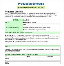 driver schedule template production schedule template