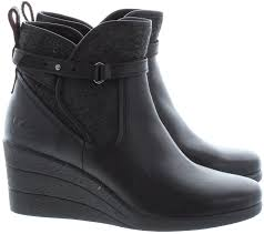 ugg s emalie boot ugg emalie wedge ankle boots in black in black