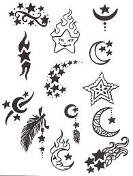 simple sun and moon design images