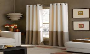window treatments curtains blue and white colorblock curtains