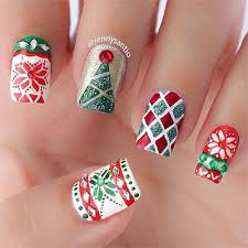 christmas 3d nail art best nails art ideas