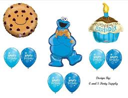 sesame decorations cookie cupcake happy birthday party balloons decorations