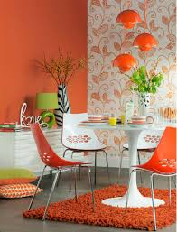 Orange Home Decor Orange Dining Room Decorating Orange Rooms Room Decorating Ideas