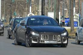 maserati sedan 2018 spyshots 2018 maserati ghibli facelift gets new grille 450 hp v6