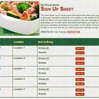 Printable Thanksgiving Potluck Sign Up Sheet Template Free Printable Food Sign Up Sheet Page 3 Divascuisine Com