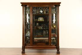 Kitchen Cabinet Edmonton Curio Cabinet Amusing Kitchen Wallnted Curio Cabinet Come With