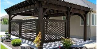 Lowes Arbor Kits by Patio U0026 Pergola Shop Outdoor Living Today Natural Cedar