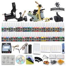beginner cheap complete tattoo kit 2 guns machines tattoo ink sets