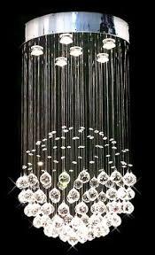 Modern Sphere Chandelier Siljoy Modern Chandelier Rain Drop Lighting Crystal Ball Fixture