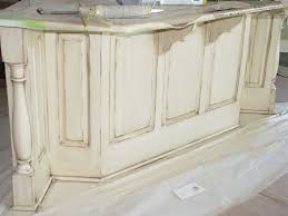 Pictures Of Antiqued Kitchen Cabinets Cream Distressed Kitchen Cabinets Soft Cream Color In This Case