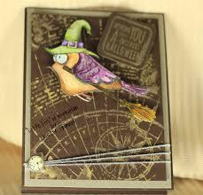 tim holtz halloween dies little bits halloween cards with those crazy birds