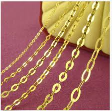 aliexpress gold necklace images Down price solid 18k yellow gold necklace normal o link chain jpg