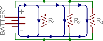 how to detect parallel connections in a circuit diagram electronics