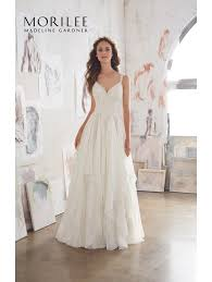 mori bridal mori 5512 boho bridal gown with ruffle skirt ivory