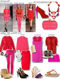 matching colours with pink clash course hot pink red huffpost