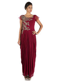 Draped Gown Buy Draped Gown Indo Western Dresses Online Draped Gown Indo
