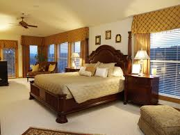 Traditional Bedroom - luxury wooden beds in traditional bedroom home interior design
