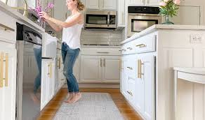 white kitchen cabinets with gold pulls kitchen renovation with brass hardware the hardware hut