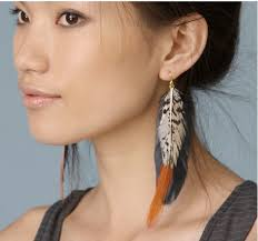80s feather earrings marant 2010 fashion prose purple hose