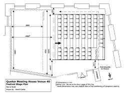 theatre plan venue 40 quaker meeting house theatre plan