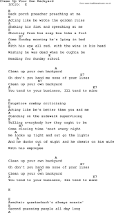 clean up your own backyard by elvis presley lyrics and chords