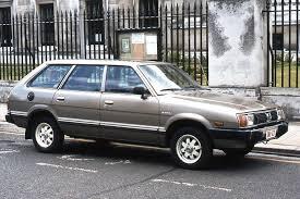 subaru station wagon green subaru leone i station wagon 1600 86 hp