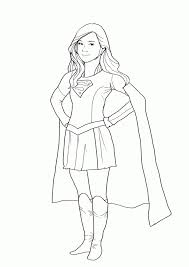 Supergirl Coloring Pages Printables Diannedonnelly Com Batgirl And Supergirl Coloring Pages Printable