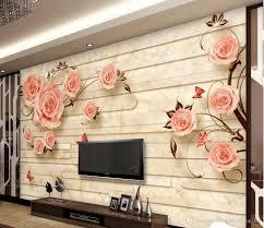 Large Wallpaper Murals Free Best Hd Wallpapers European Marble Tiles Embossed Tv Background Wall Rose Mural 3d