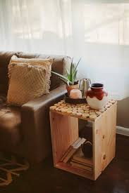 Diy Wood Home Decor Cute Square Desaign Ideas For Diy Wood Crate With Small Circle