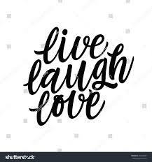 live laugh love positive quote handwritten stock vector 472359697
