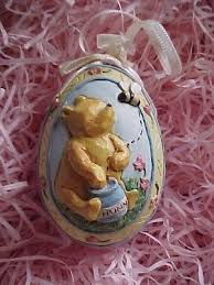 winnie the pooh easter eggs vintage winnie the pooh easter egg shape tree ornament 3d diorama