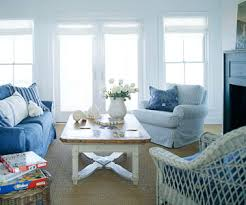 Blue And White Striped Slipcovers Classic Country Style Interiors Home Design U0026 Layout Ideas