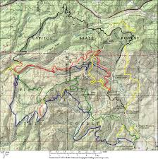 Washington State Topographic Map by Capitol Forest Washington
