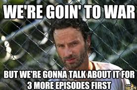 Walking Dead Birthday Meme - the walking dead procrastination