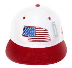 Usa Flag Hats Adidas Nebraska State N Flag Flat Brim