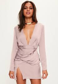 shift dress pink silky sleeve panelled shift dress missguided
