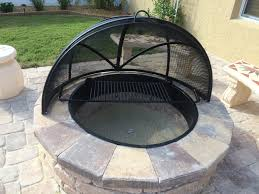 fire pit topper custom fire pit covers spark screens stainless steel fire pit