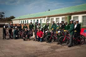 cherie futura de rust futura welcomes mountain bike donation from fnb