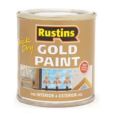 Metal Paint Exterior - rustins gold u0026 silver metal paint