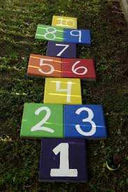 backyard ideas kids hopscotch we made for our backyard painted concrete pavers and