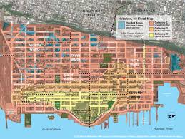 Flood Zone Map Florida by New Hoboken Flood Map With Water Levels Post Hurricane Sandy
